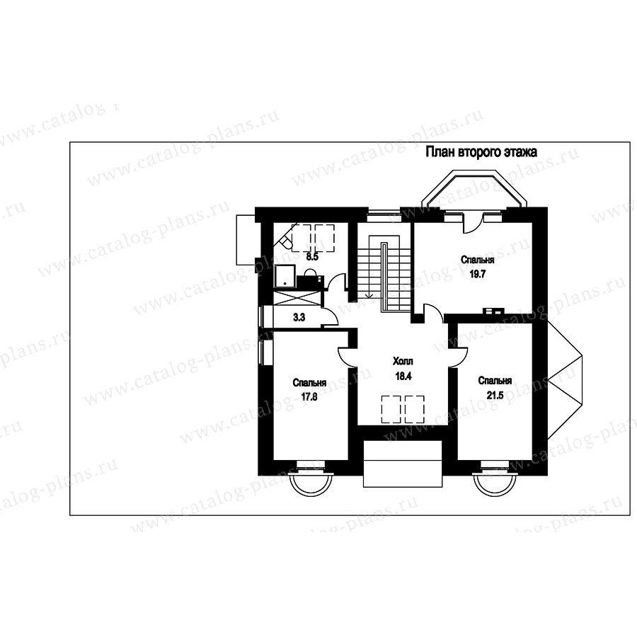 План 2-этажа проекта 49-84