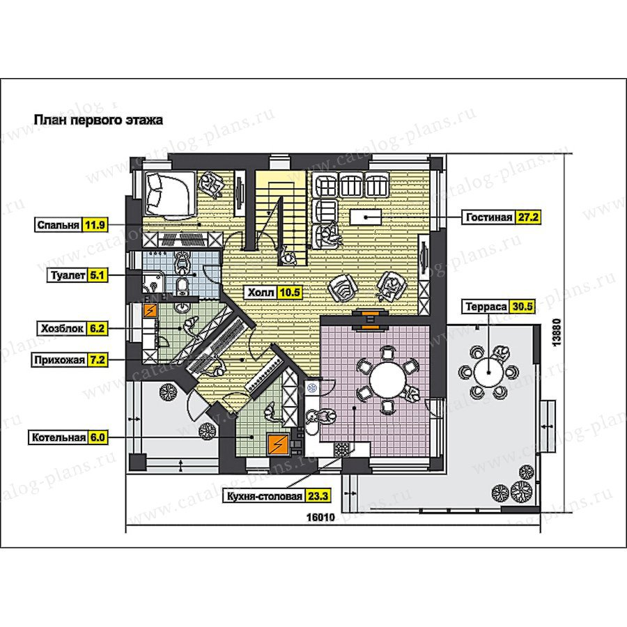 План 1-этажа проекта 49-92