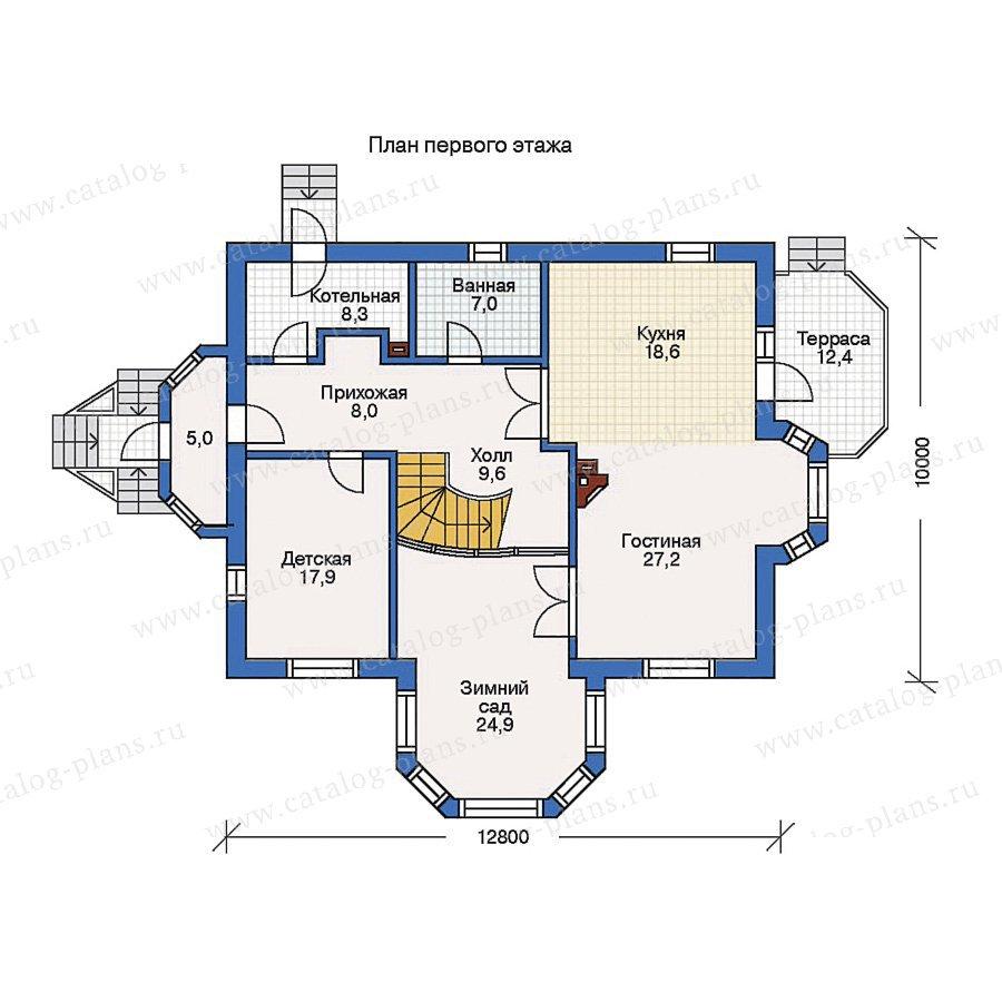 План 1-этажа проекта 50-60