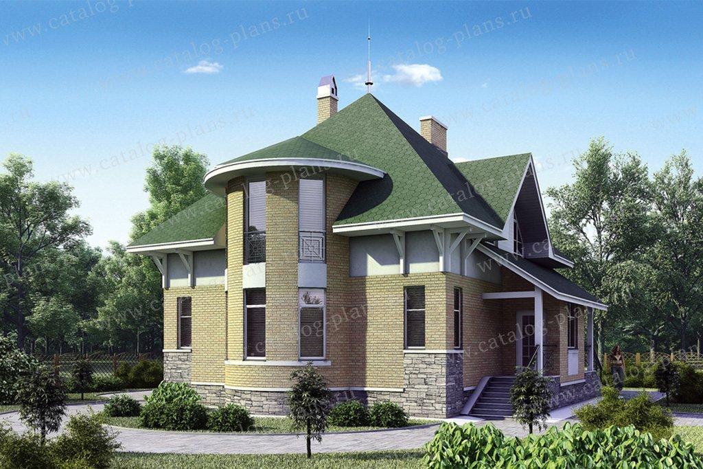 Проект жилой дом #50-94 материал - газобетон, стиль европейский