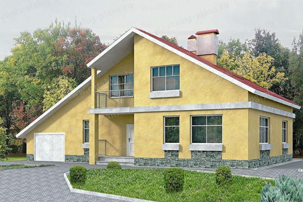 Проект жилой дом #51-32 материал - газобетон, стиль современный