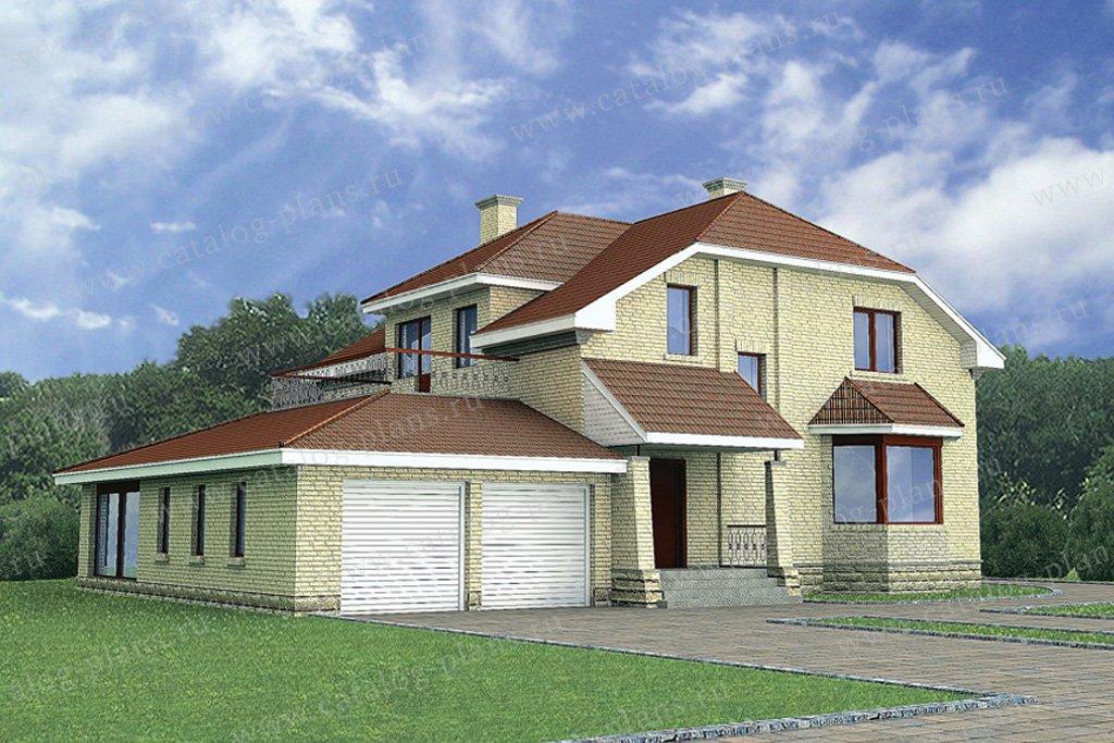 Проект жилой дом #51-18 материал - газобетон, стиль европейский