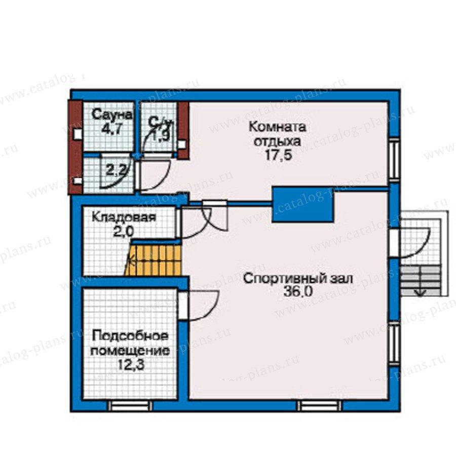 План 1-этажа проекта 50-76