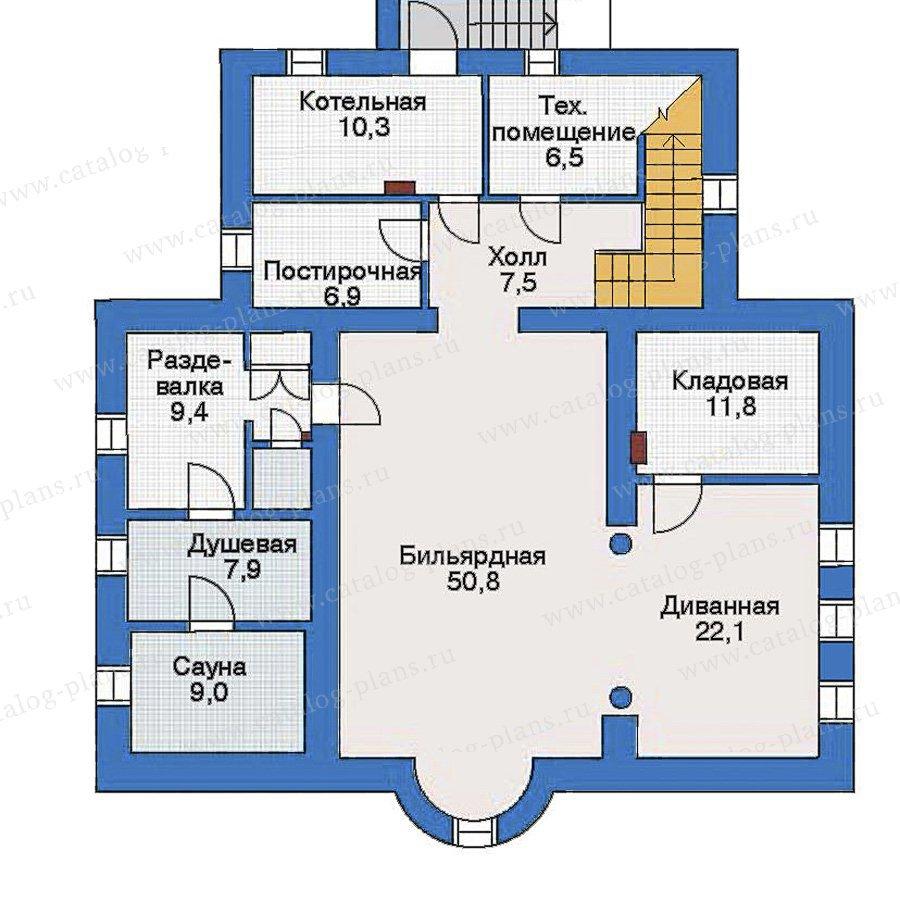 План 1-этажа проекта 51-16