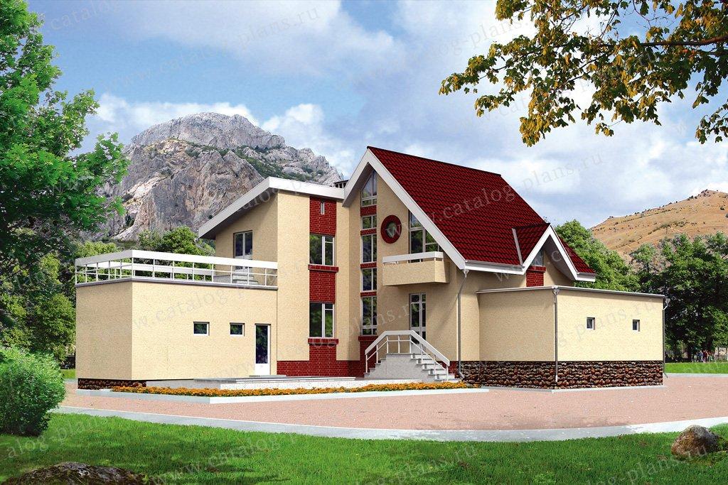 Проект жилой дом #50-91 материал - кирпич, стиль современный