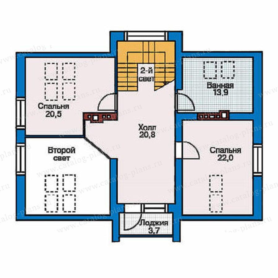 План 2-этажа проекта 51-20