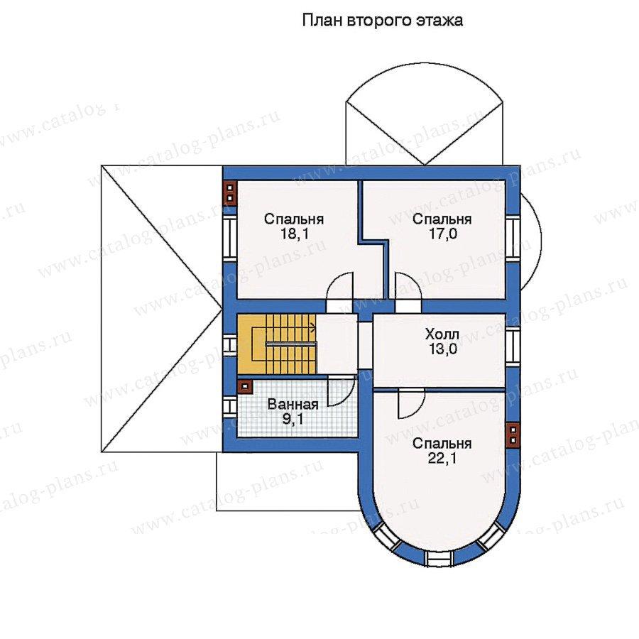 План 2-этажа проекта 50-71