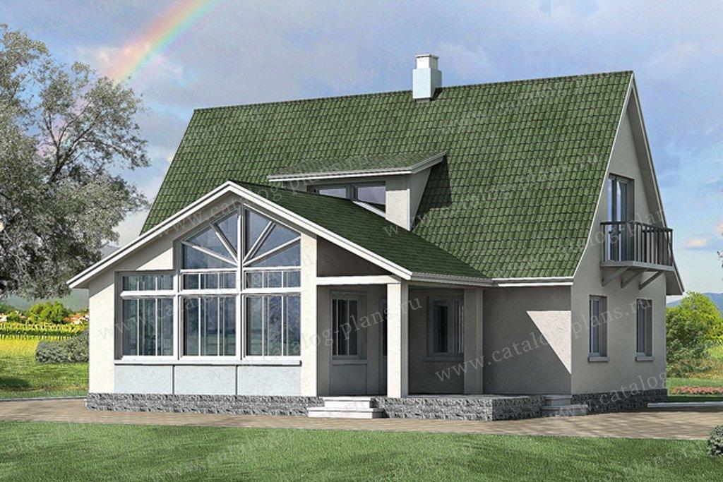 Проект жилой дом #51-13 материал - газобетон, стиль европейский