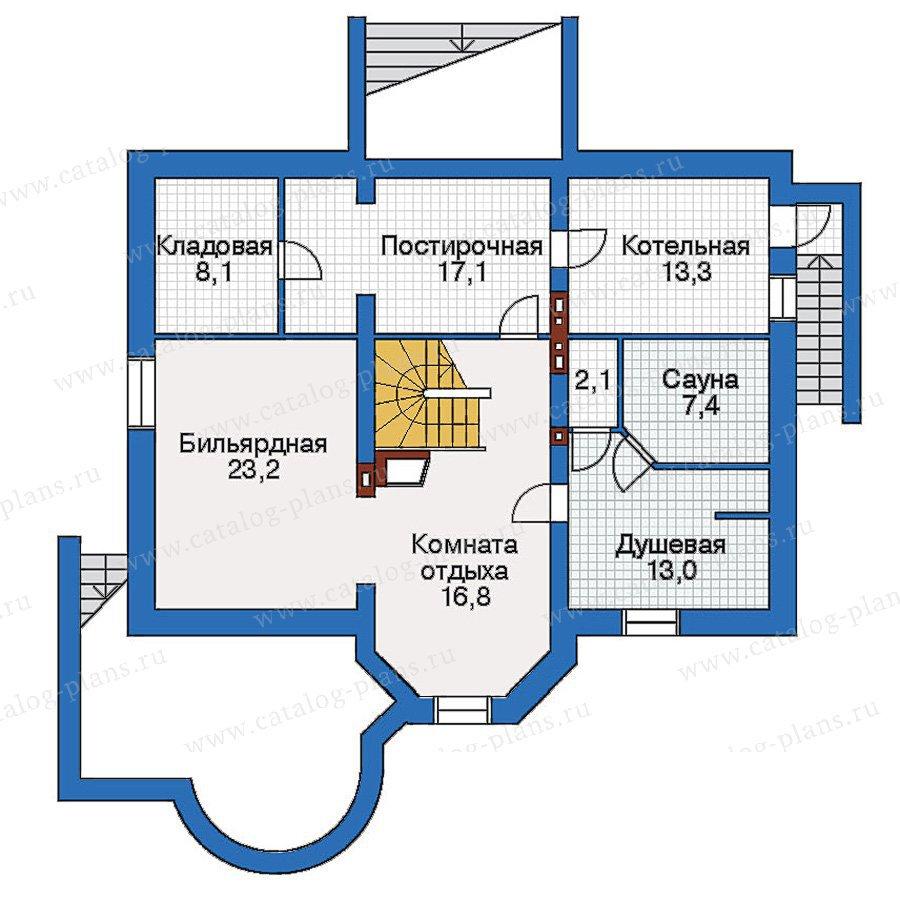 План 1-этажа проекта 51-17