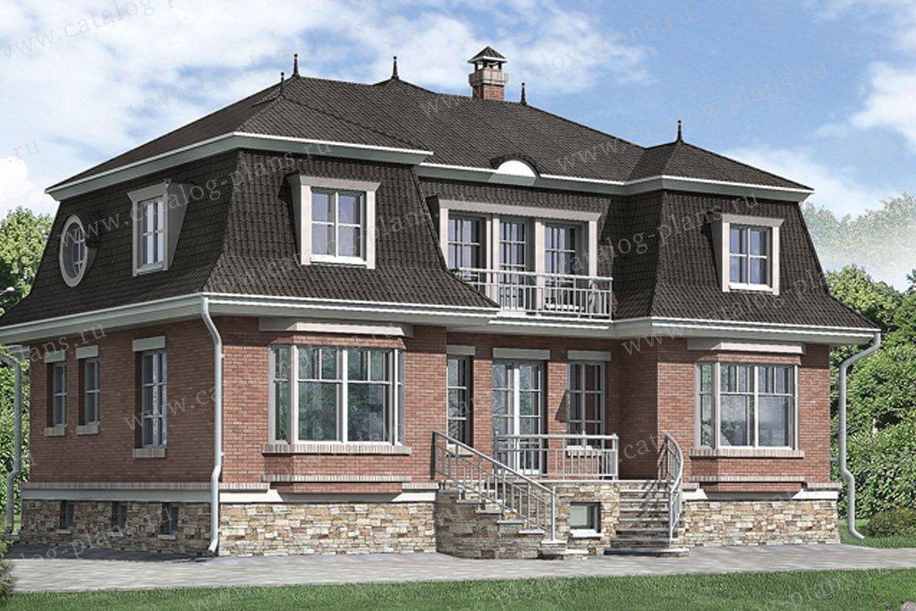 Проект жилой дом #51-16 материал - газобетон, стиль английский
