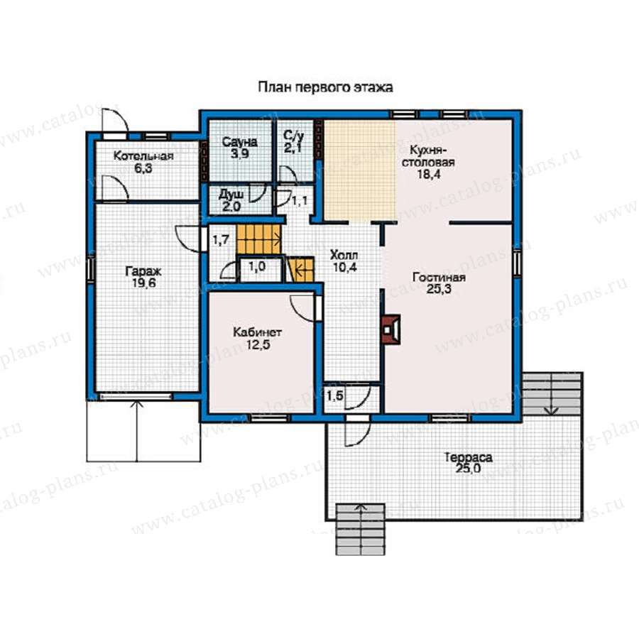 План 1-этажа проекта 50-82