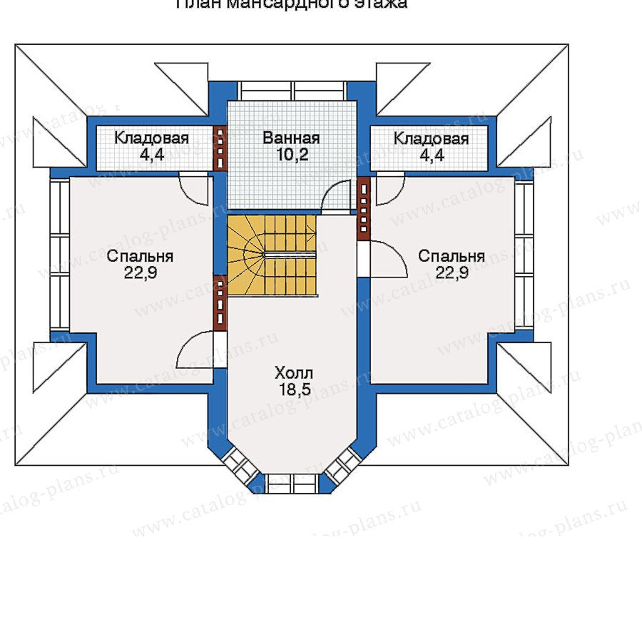План 3-этажа проекта 51-17