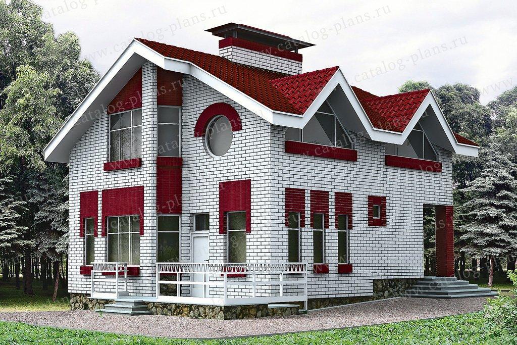 Проект жилой дом #51-07 материал - кирпич, стиль европейский