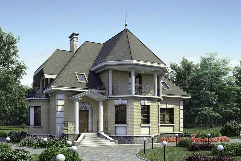 Проект жилой дом #51-30 материал - газобетон, стиль классический