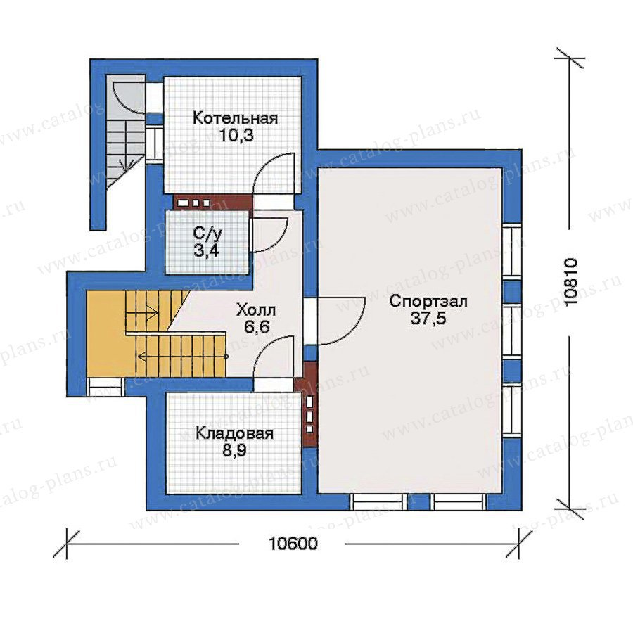 План 1-этажа проекта 50-90