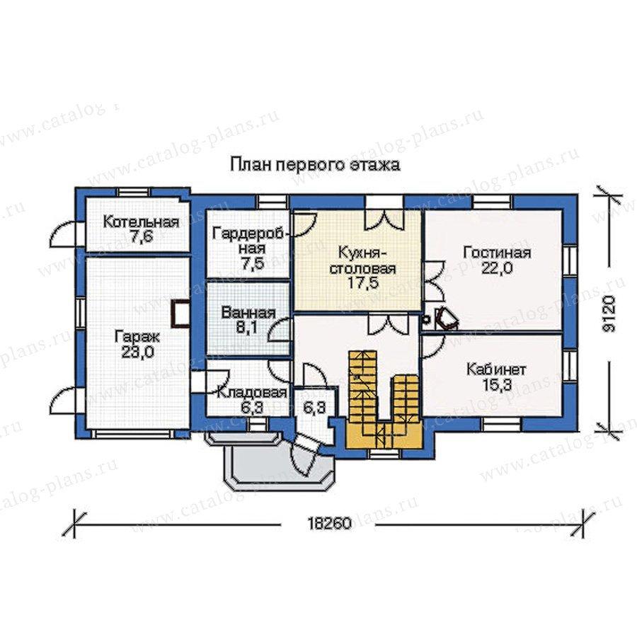 План 1-этажа проекта 51-19