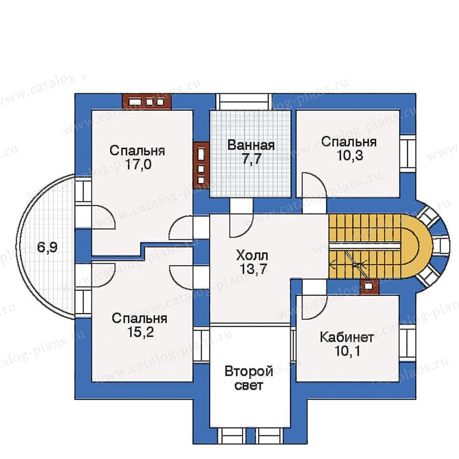 План 2-этажа проекта 50-68