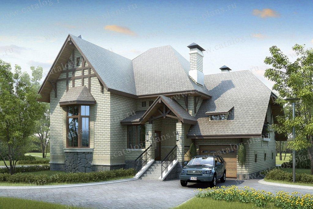 Проект жилой дом #51-10 материал - газобетон, стиль немецкий