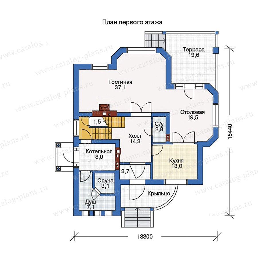 План 1-этажа проекта 50-84