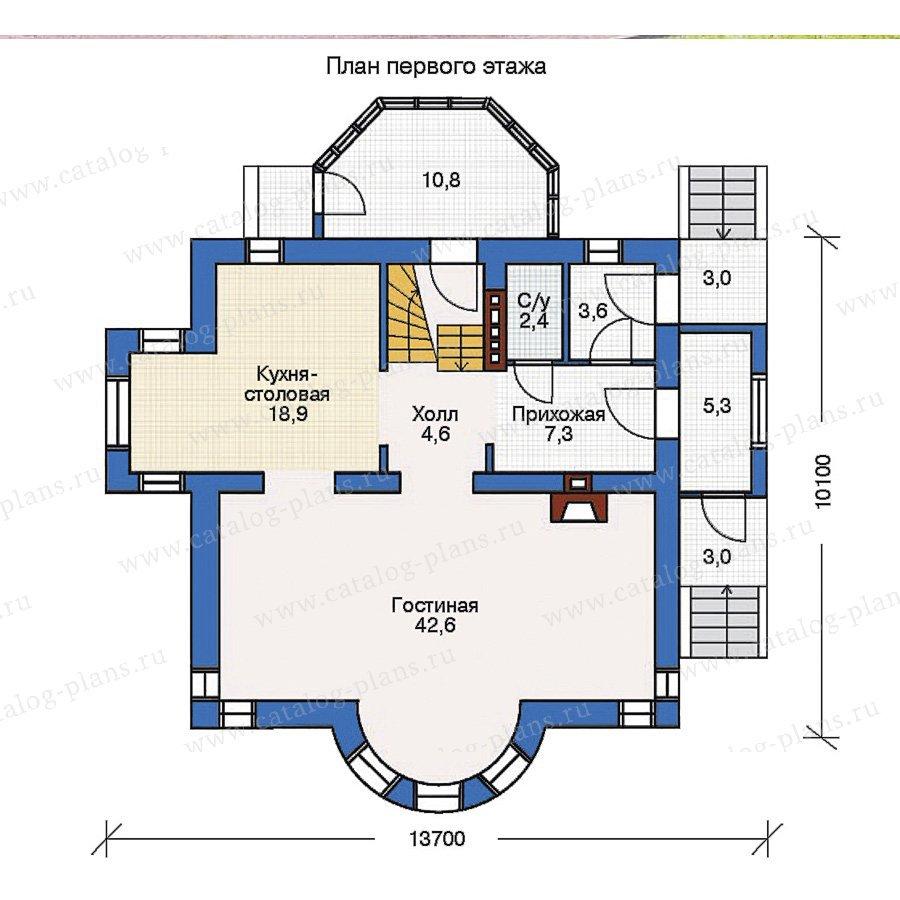 План 1-этажа проекта 50-93