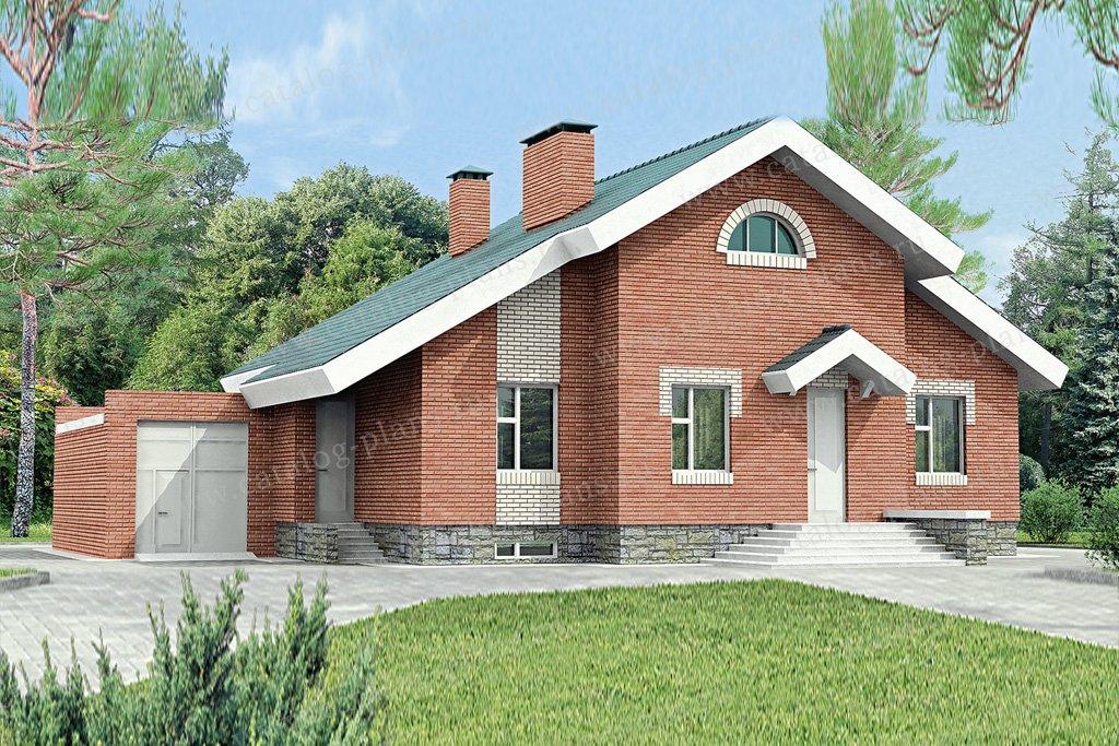 Проект жилой дом #51-43 материал - кирпич, стиль европейский