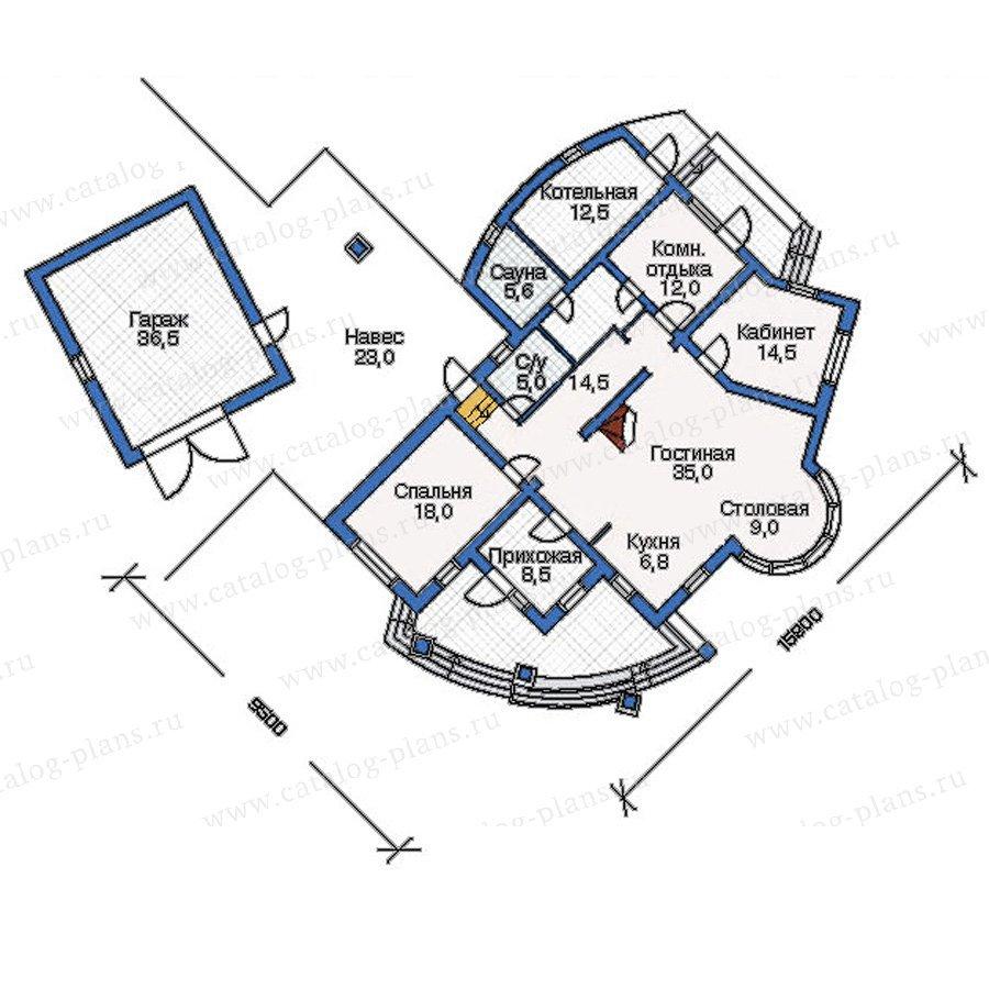 План 1-этажа проекта 51-15