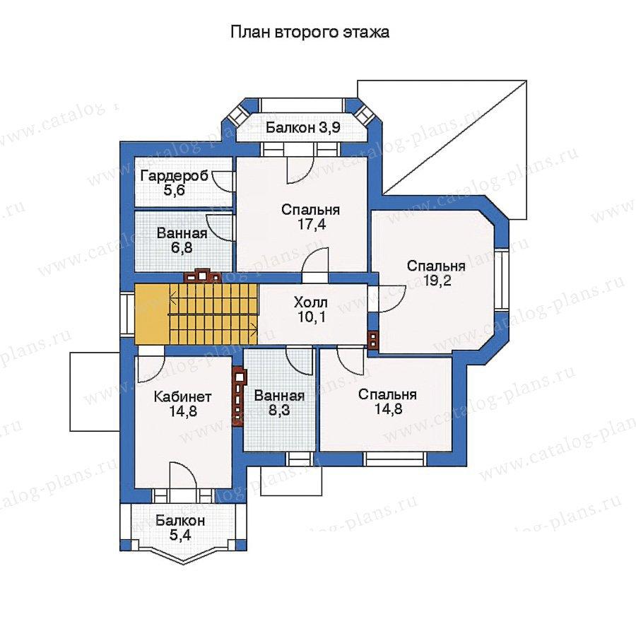 План 2-этажа проекта 50-84