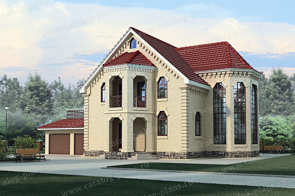 Проект жилой дом #51-31 материал - газобетон, стиль европейский