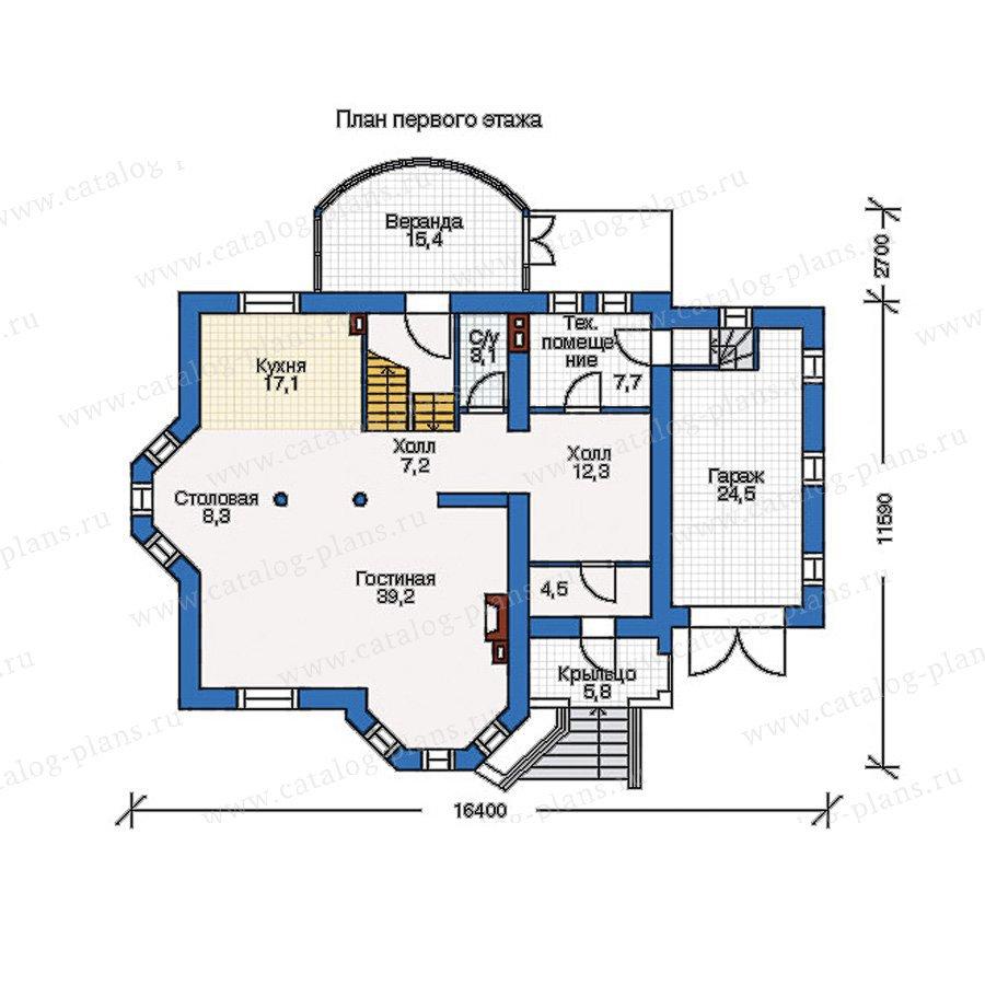 План 1-этажа проекта 50-70
