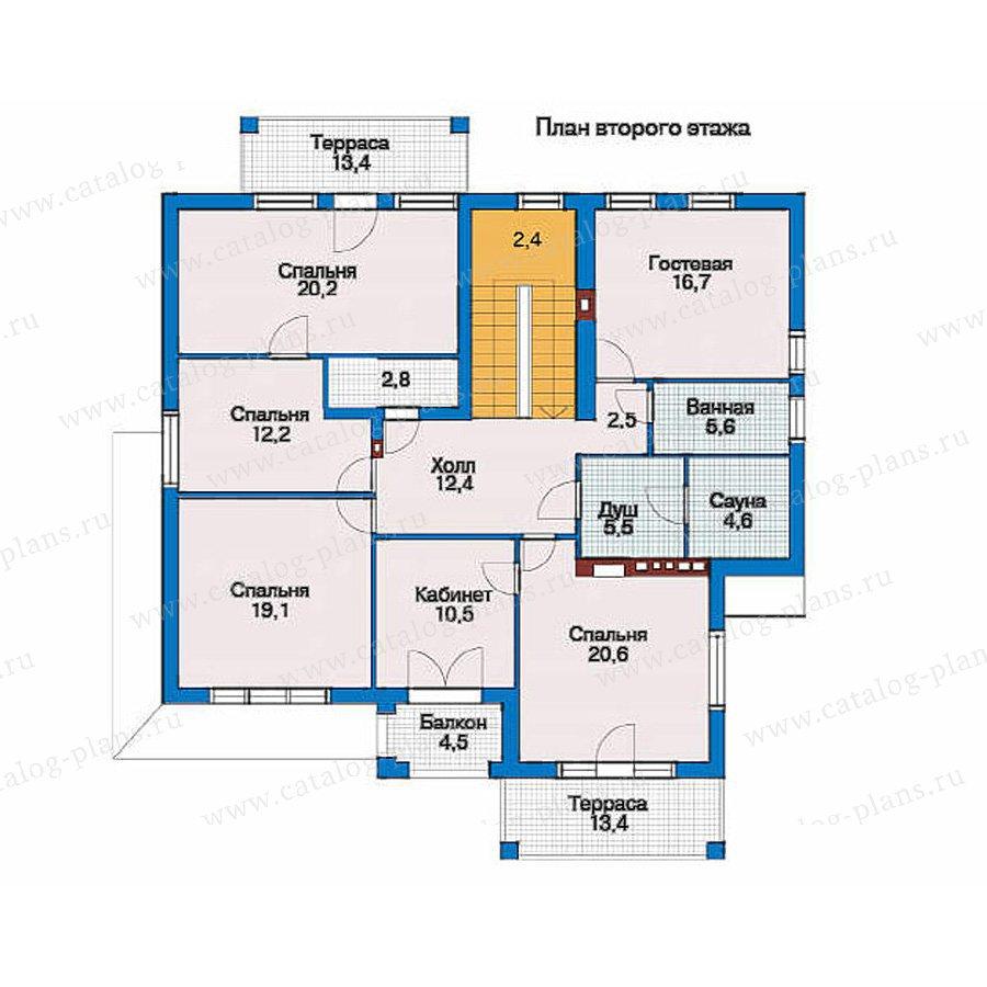 План 2-этажа проекта 51-23