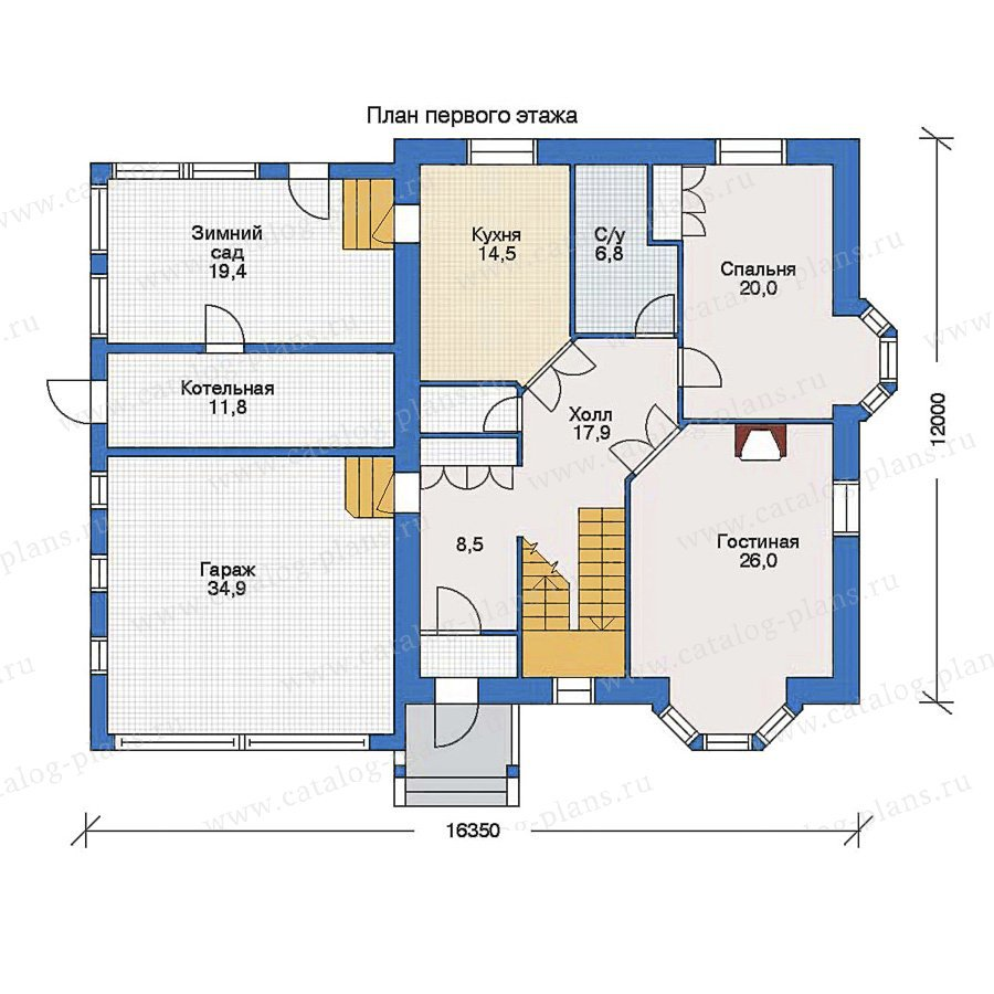 План 1-этажа проекта 51-18