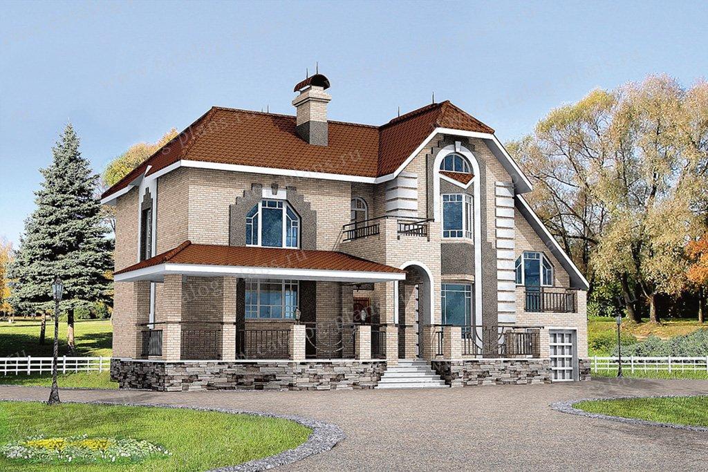 Проект жилой дом #50-92 материал - газобетон, стиль классический