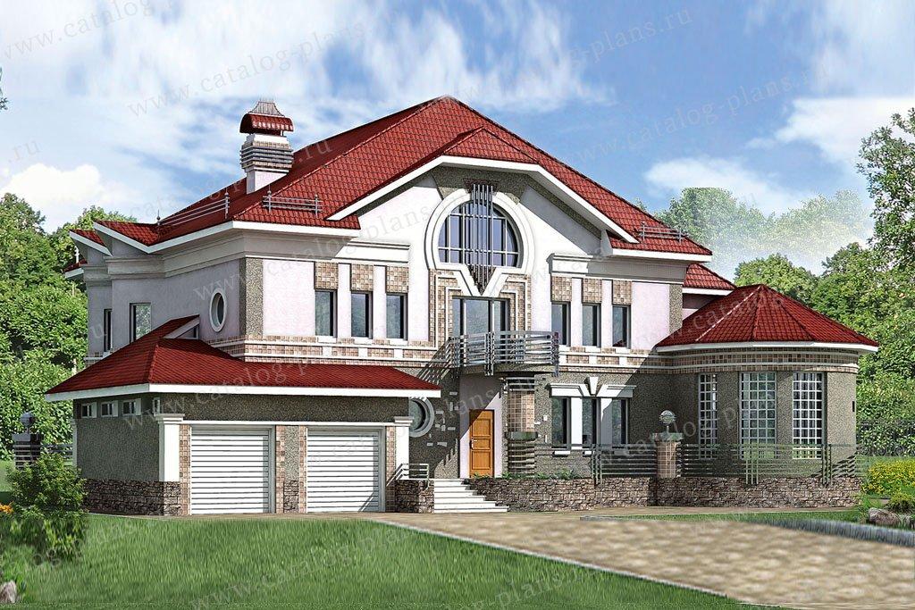 Проект жилой дом #51-35 материал - газобетон, стиль модерн