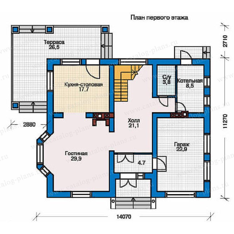 План 1-этажа проекта 51-20