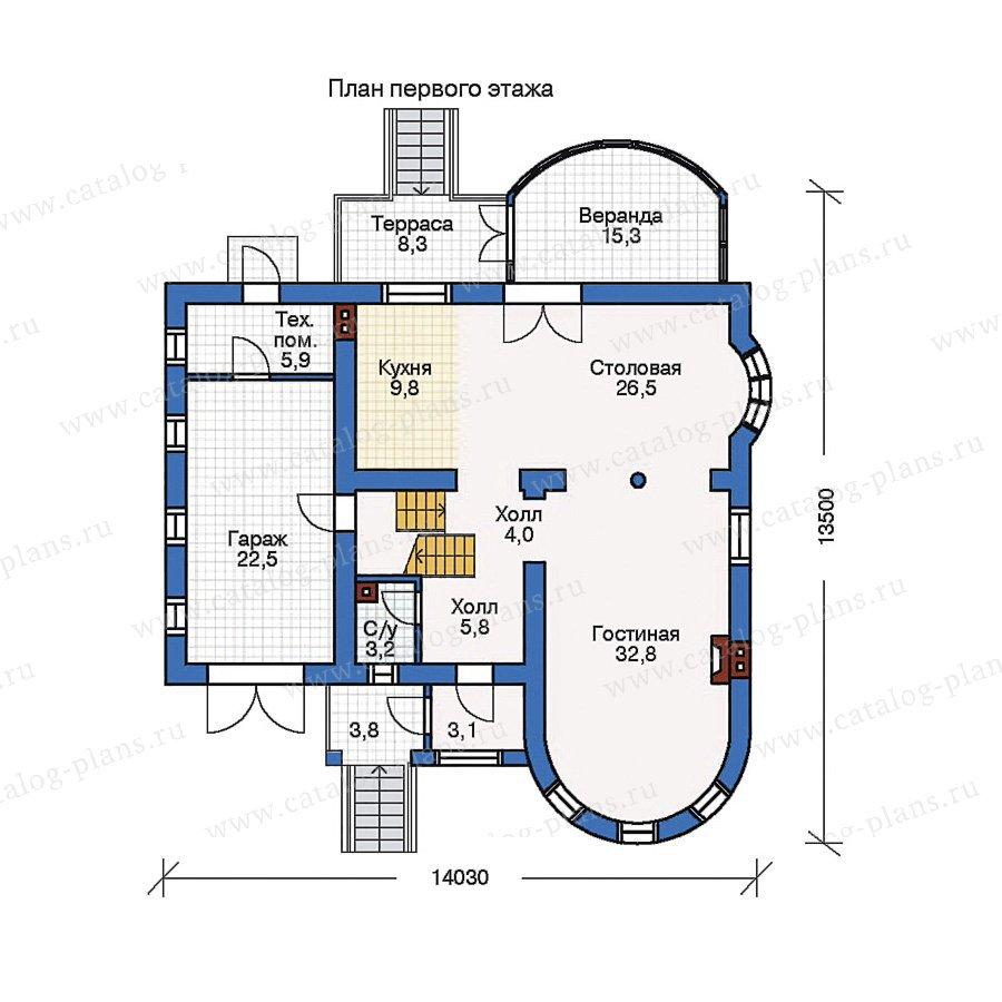 План 1-этажа проекта 50-71
