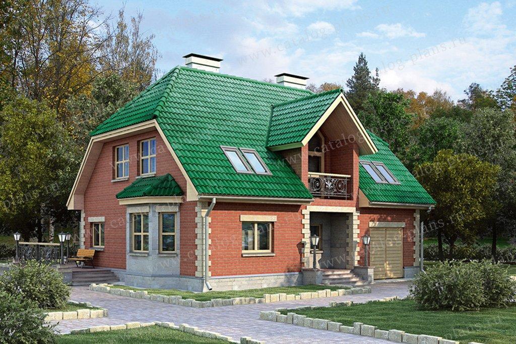 Проект жилой дом #50-95 материал - газобетон, стиль европейский