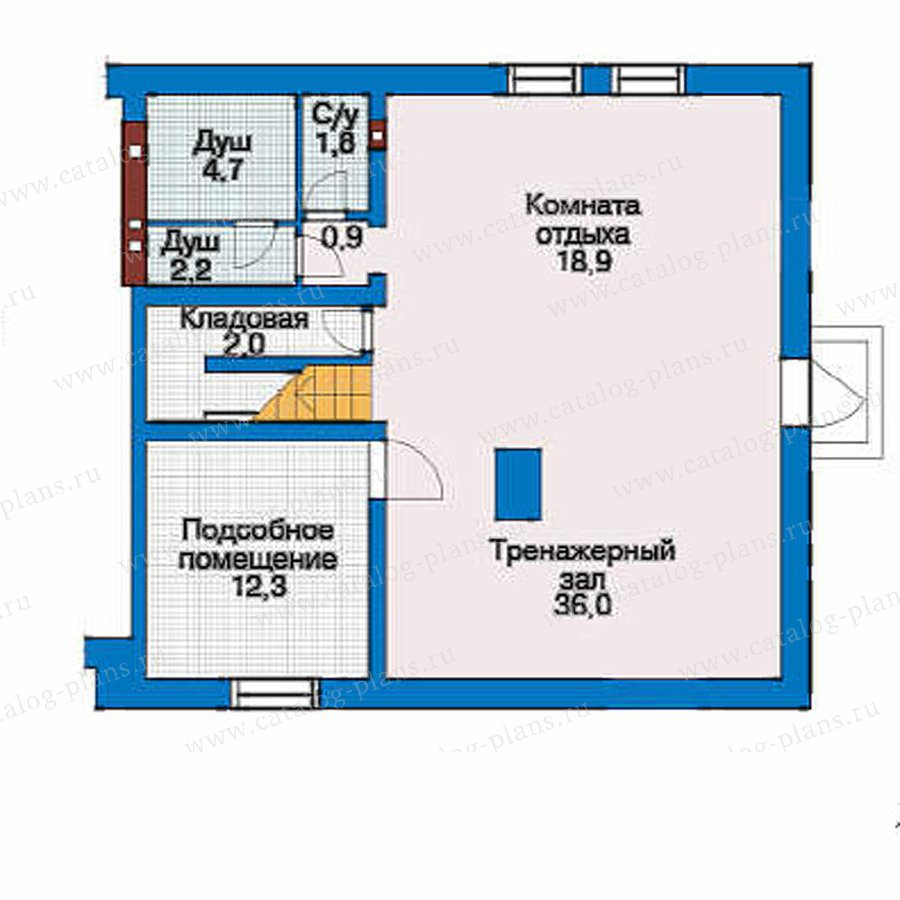 План 1-этажа проекта 51-22