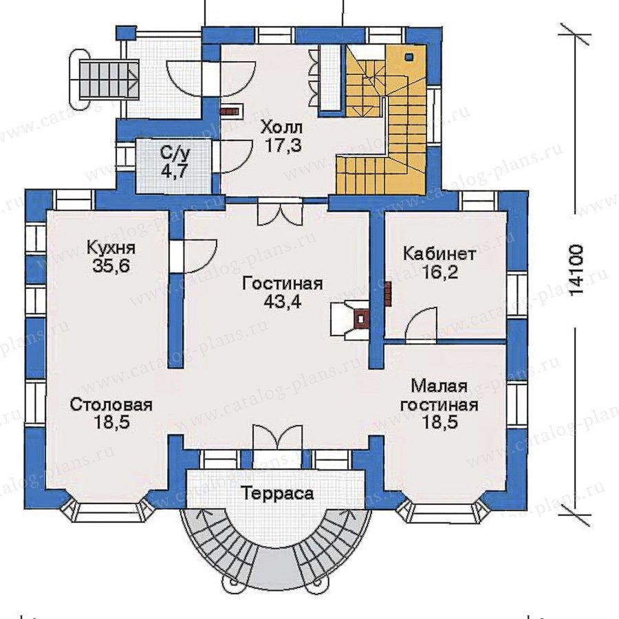 План 2-этажа проекта 51-16