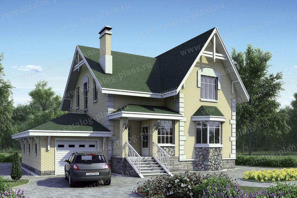 Проект жилой дом #51-27 материал - газобетон, стиль европейский