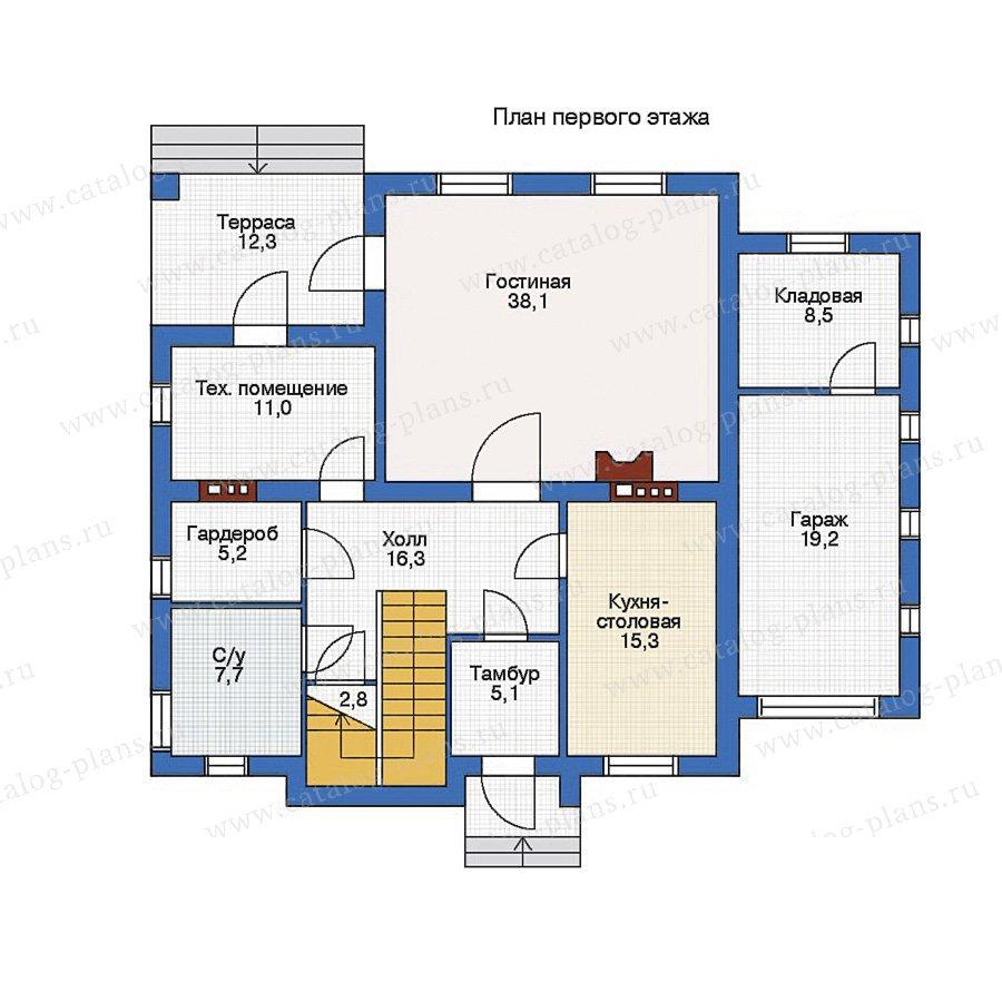 План 1-этажа проекта 50-85