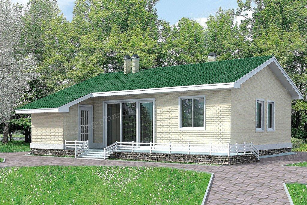 Проект жилой дом #51-12 материал - газобетон, стиль современный