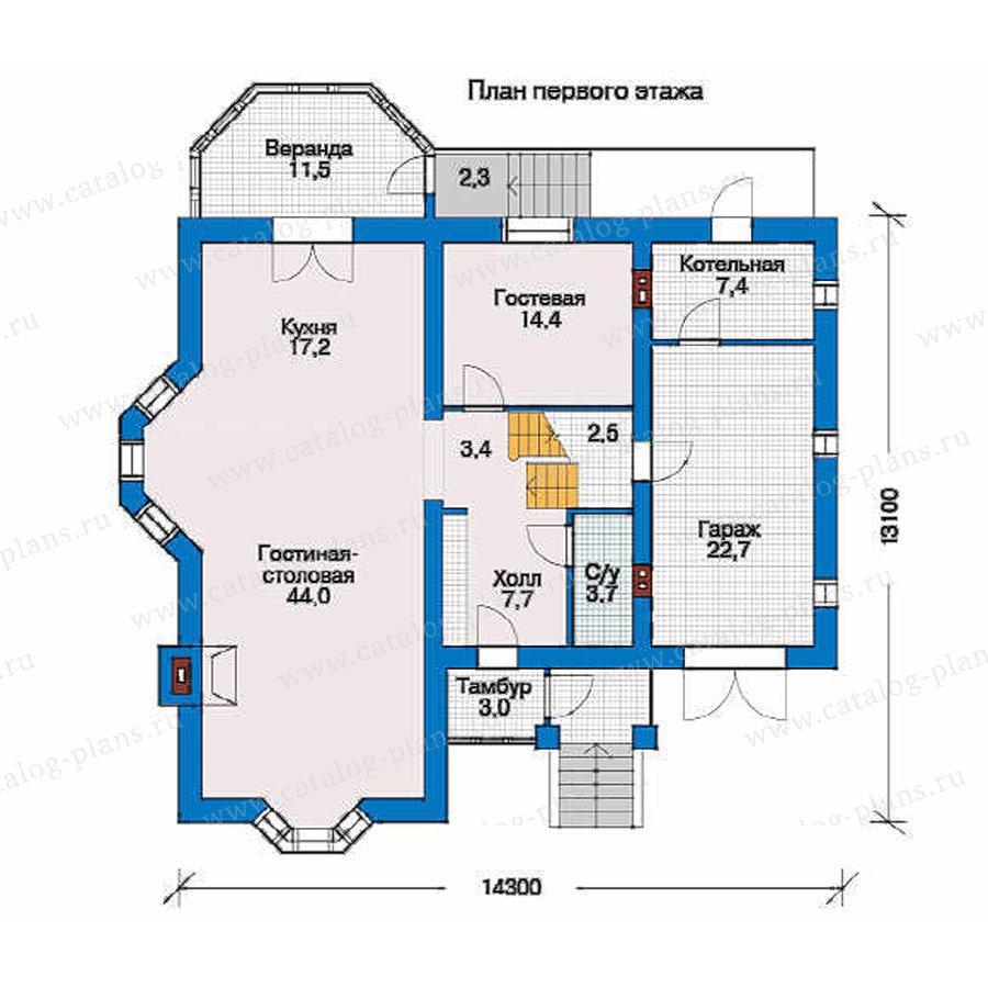 План 1-этажа проекта 51-10