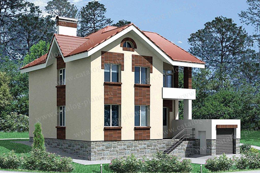 Проект жилой дом #50-97 материал - кирпич, стиль европейский