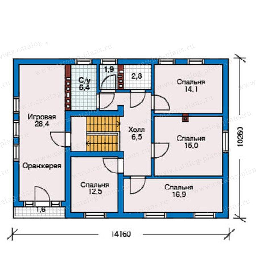 План 3-этажа проекта 50-76