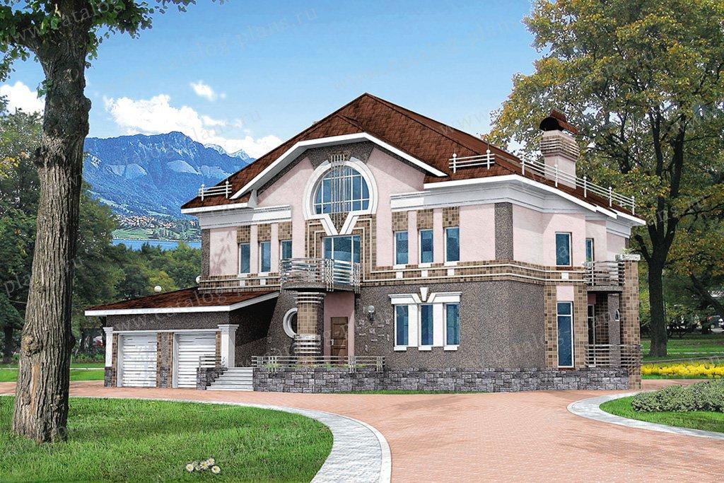 Проект жилой дом #50-87 материал - гозобетон, стиль классический