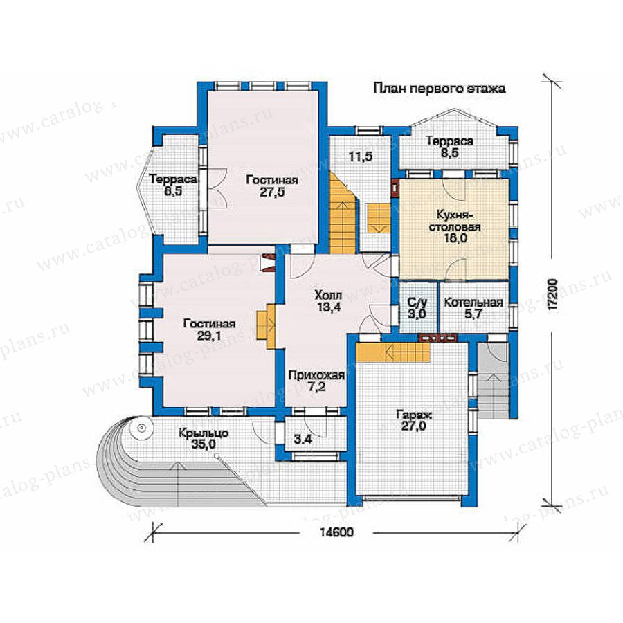 План 1-этажа проекта 51-23