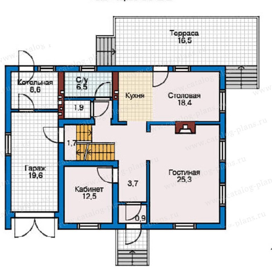 План 2-этажа проекта 50-76