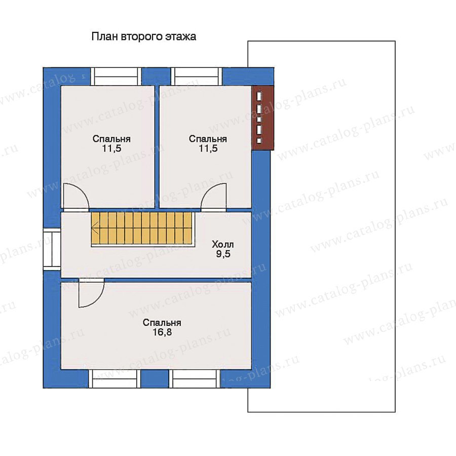 План 2-этажа проекта 51-03