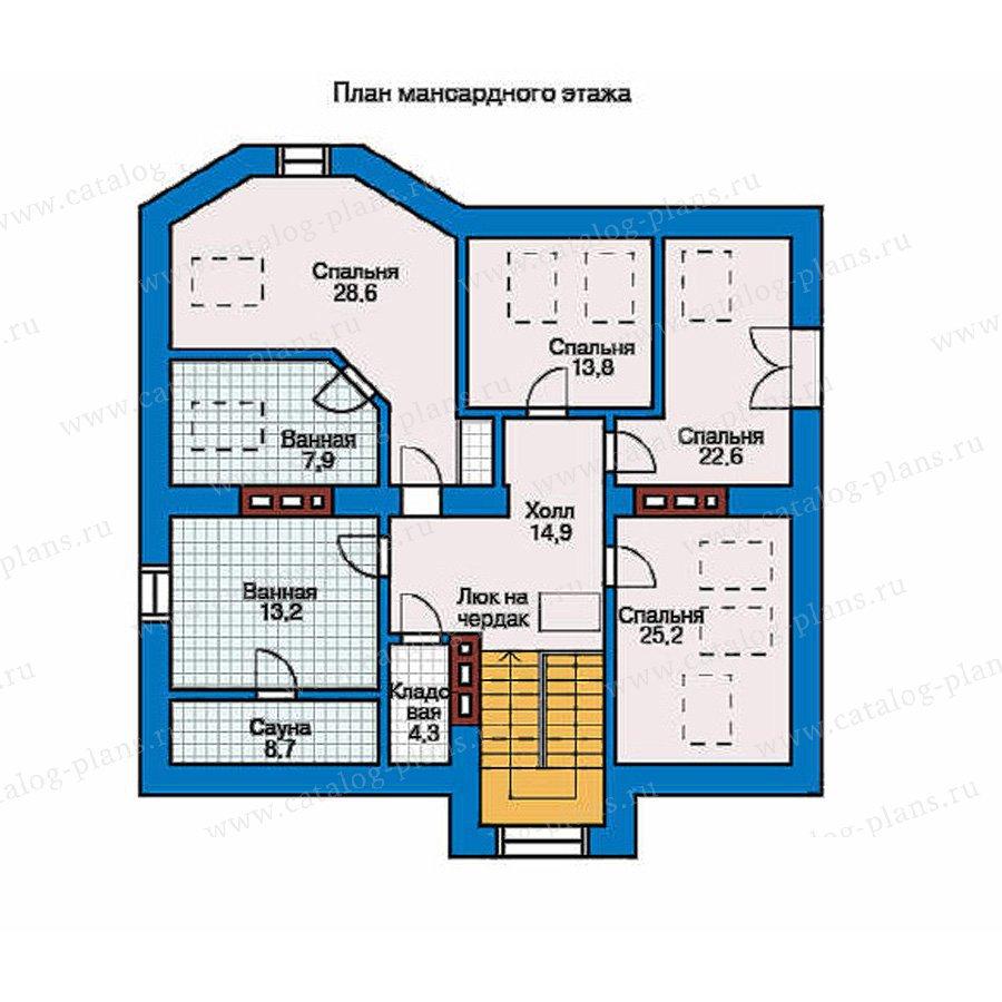 План 2-этажа проекта 50-83
