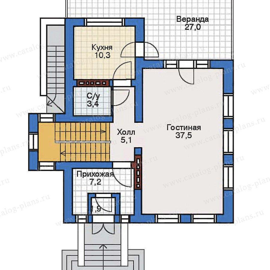 План 2-этажа проекта 50-90